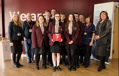 Defibrillator for school